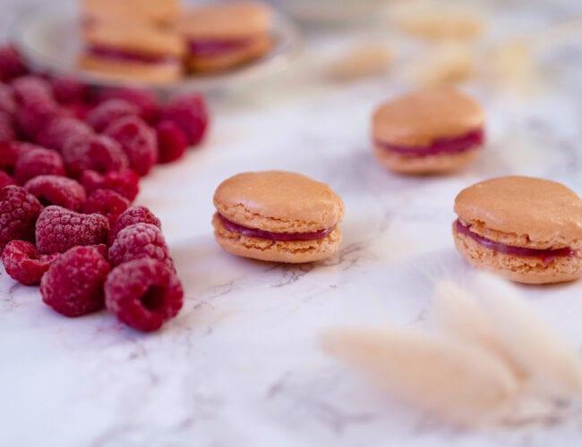 Macarons saveur framboise