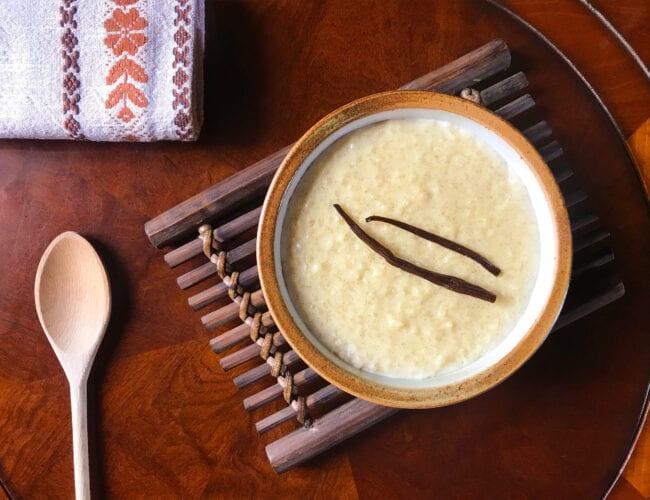 Le meilleur riz au lait à la vanille