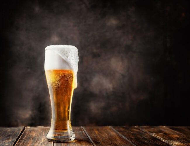 Bière blonde légère